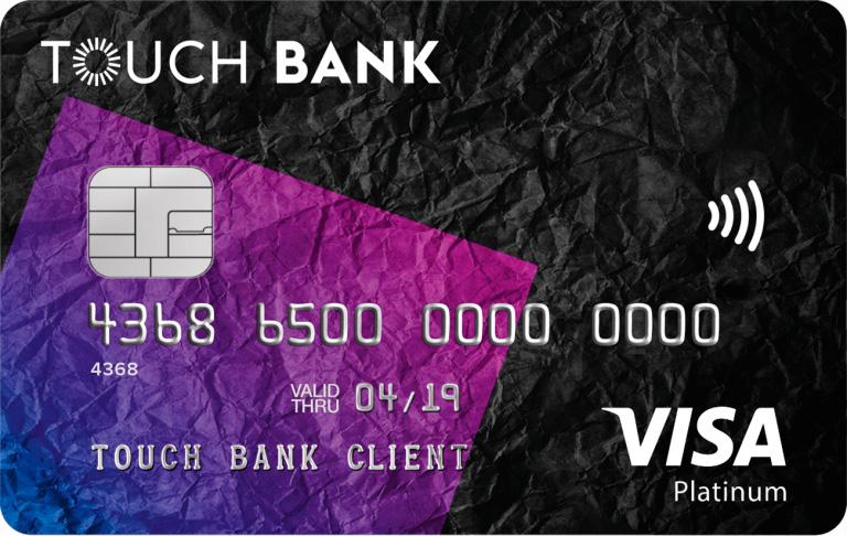 Кредитная карта Touch Bank фото